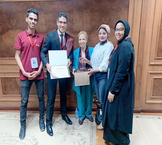 Al-Nahda University shines again and wins second place at the level of the Republic in the ideal student competition.