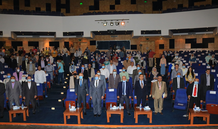 The Faculty of Engineering, Al-Nahda University organizes the scientific conference for students and the intellectual forum for civil society
