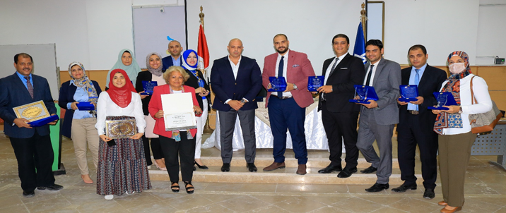 The Faculty of Business Administration, Al-Nahda University, honors outstanding students during the academic year 2020/2021