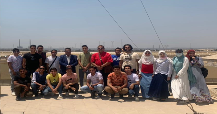 The Faculty of Engineering, Al-Nahda University, on a field Trip to the solar and thermal power station in Al-Korimat