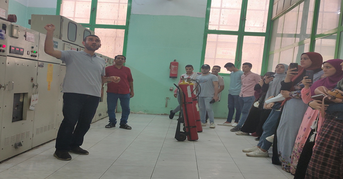The Faculty of Engineering, Al-Nahda University, organizes a summer training course at the Middle Egypt Electricity Distribution Company for its students